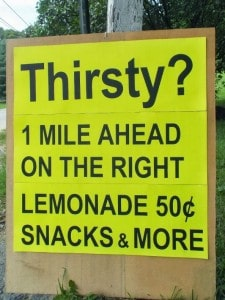 1 mile sign